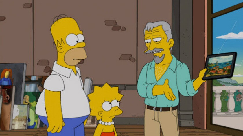 """Max von Sydow provided the voice of an art forger in Sunday's episode of """"The Simpsons"""" on Fox."""
