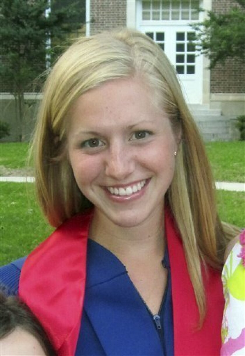 This May 2010 photo provided by family friend Stacy Lilly shows Allison Owens from Columbus, Ohio after graduating from Southern Methodist University in Dallas. Italian police say they have found the body of the 23-year-old American woman missing in Tuscany for three days and believe she was the victim of a hit-and-run driver. (AP Photo/Stacy Lilly)
