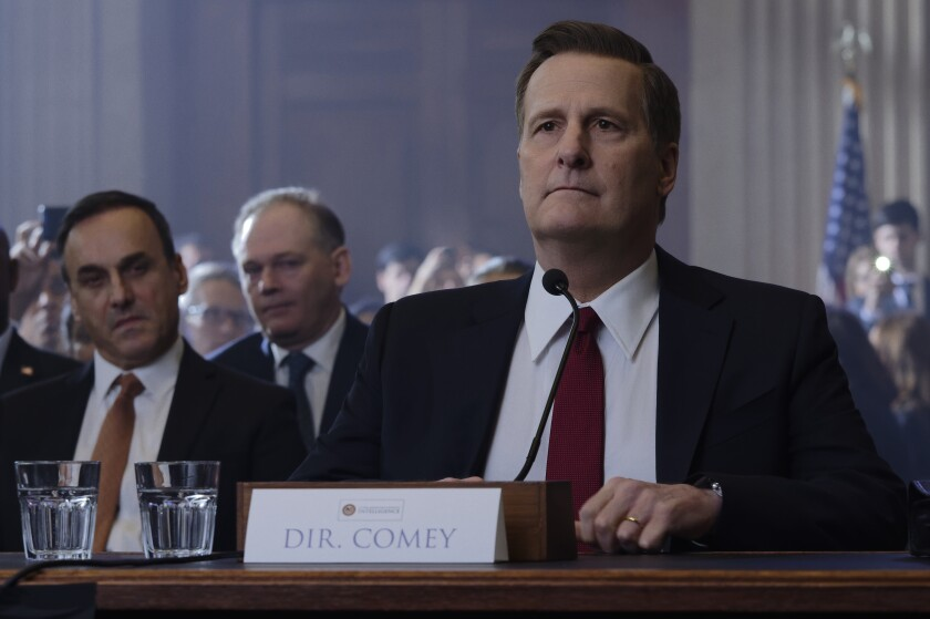 "Jeff Daniels as former FBI Director James Comey in Showtime's ""The Comey Rule."""