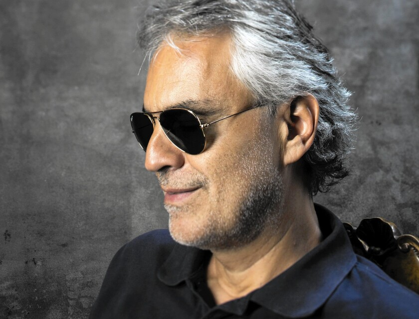 Tenor Andrea Bocelli talks about his music and career before a Hollywood Bowl concert.