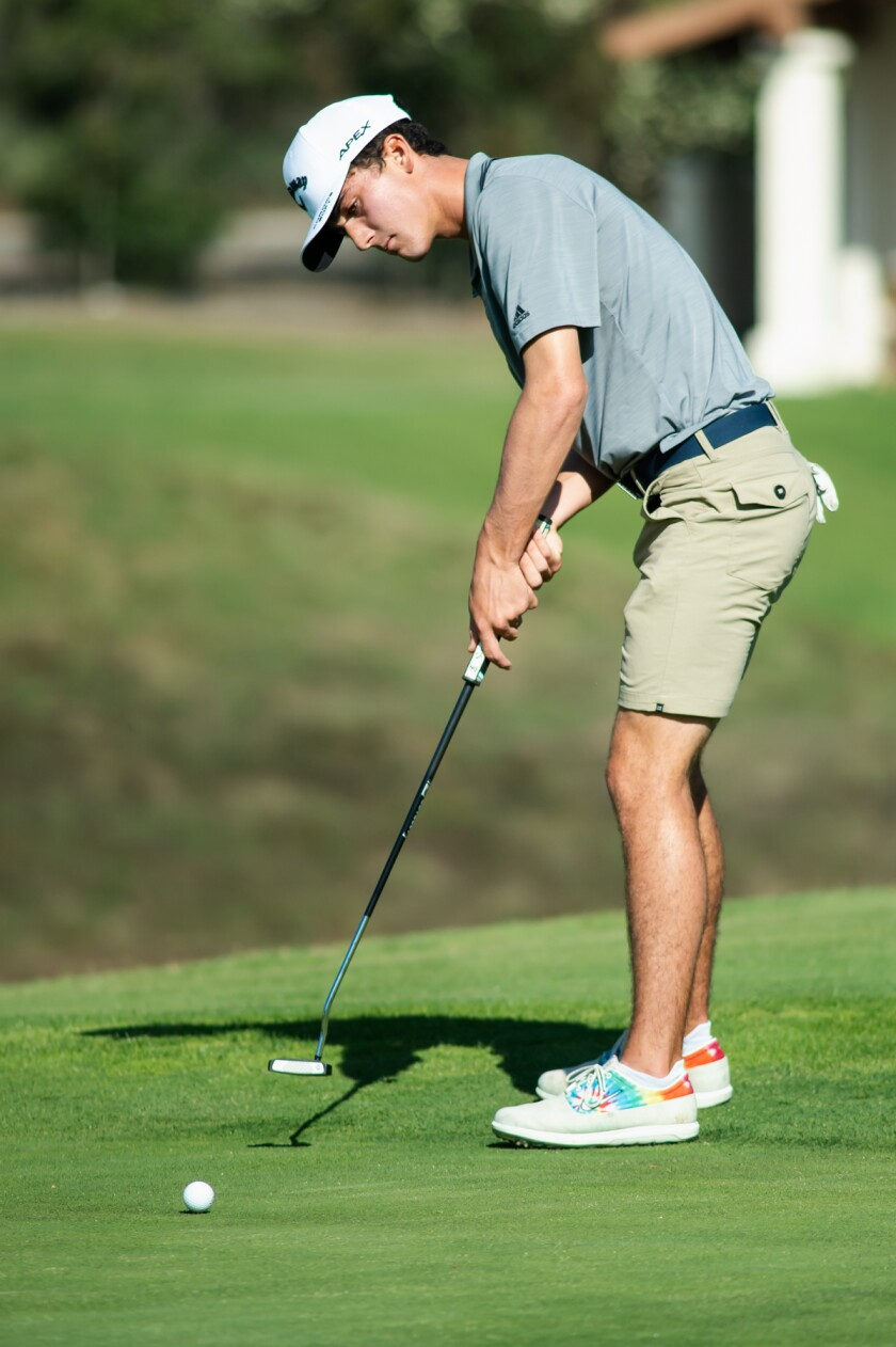 Bishop's School junior Michael Behr transitioned to golf at the onset of the COVID-19 pandemic.
