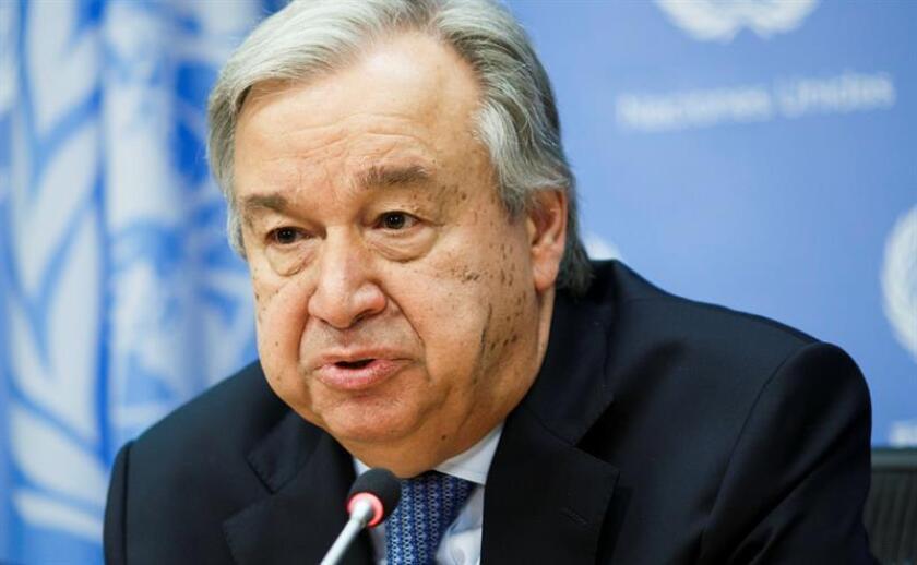 El secretario general de Naciones Unidas, António Guterres. EFE/Archivo