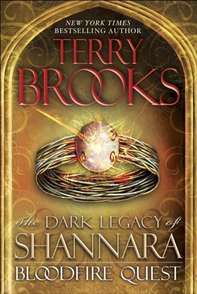 "This book cover image released by Del Rey shows ""Bloodfire Quest: The Dark Legacy of Shannara,"" by Terry Brooks. (AP Photo/Del Ray)"