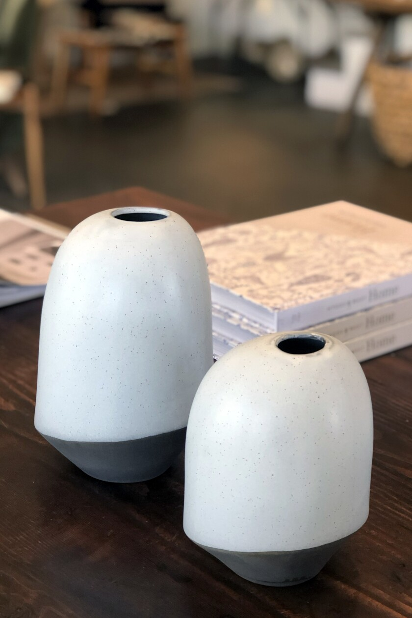 Small pottery vases at deKor & Co. ($35 - $55)