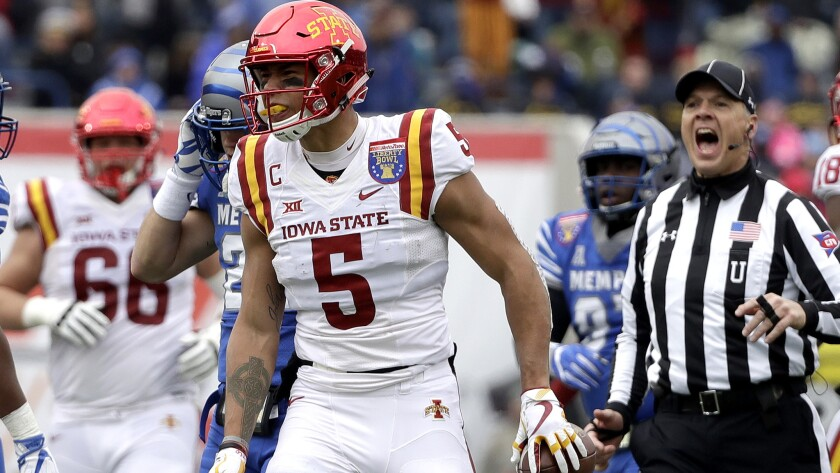 Liberty Bowl Iowa State Continues To Raise Its Profile By Beating Memphis Los Angeles Times