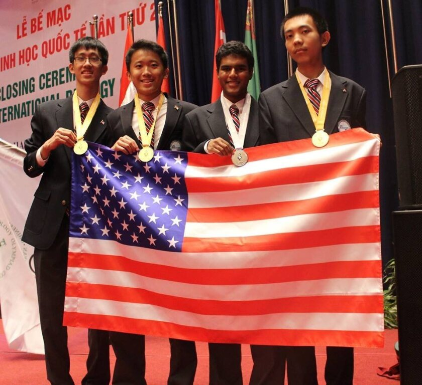 Team USA 2016 at the 27th International Biology Olympiad.  Courtesy