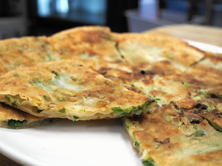 Flavor Garden is one of several restaurants offering scallion pancakes.