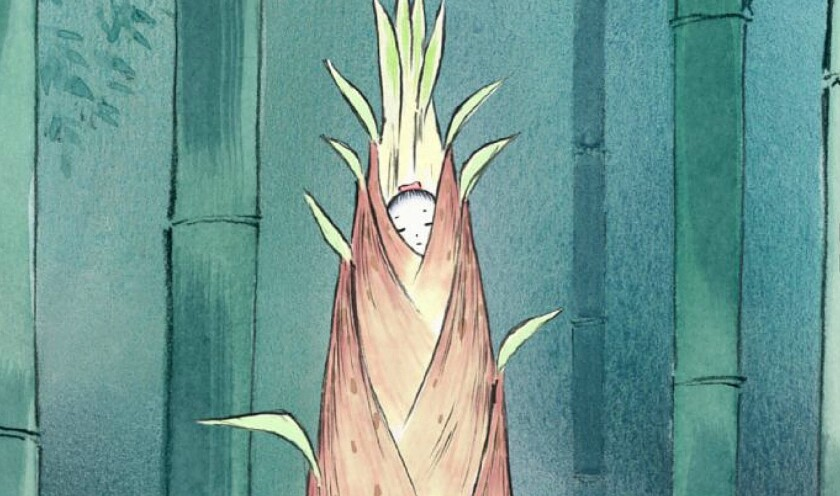 "In ""The Tale of the Princess Kaguya,"" a strange being is found inside a shining stalk of bamboo."