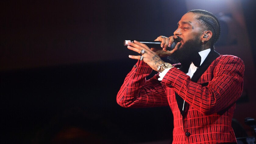 Column If Taylor Swift Deserves A Banner At Staples Center So Does Nipsey Hussle Los Angeles Times