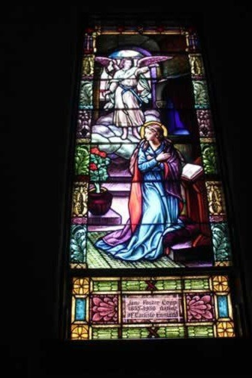 This stained glass window was the first to be restored. Each window takes a month to refurbish.