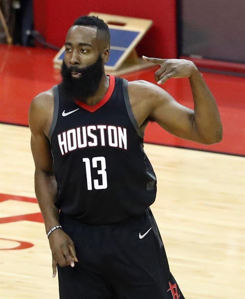 El jugador de los Houston Rockets, James Harden. EFE/Archivo