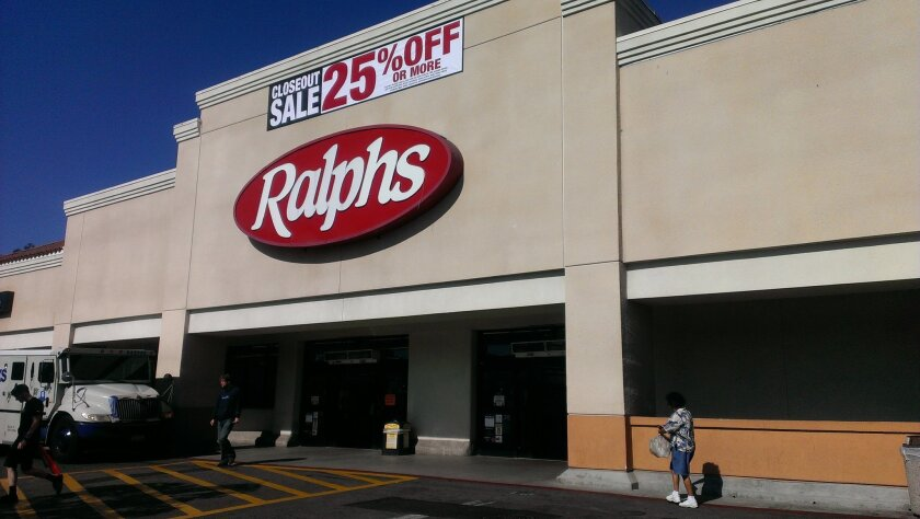 The Ralphs store on Oceanside Boulevard is set to close Nov. 8. Ralphs officials say the store has been underperforming in recent years.