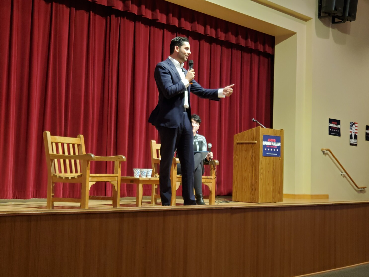 At town hall, Campa-Najjar says he will fight money's influence on politics