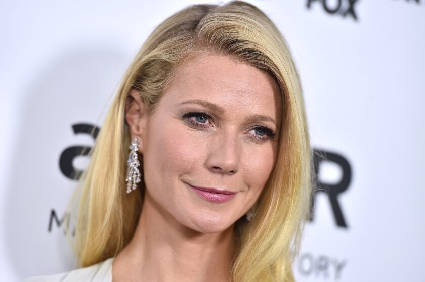 FILE - In this Oct. 29, 2015 file photo, Gwyneth Paltrow arrives at the amfAR Inspiration Gala in Los Angeles. Dante Soiu, an Ohio man charged with stalking Paltrow by sending her dozens of messages and unsolicited gifts  between 2009 and 2015, testified in his own defense about the correspondence