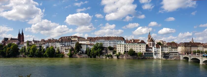 Basel, Panorama puffy cloud view from Krafft hotel.jpg