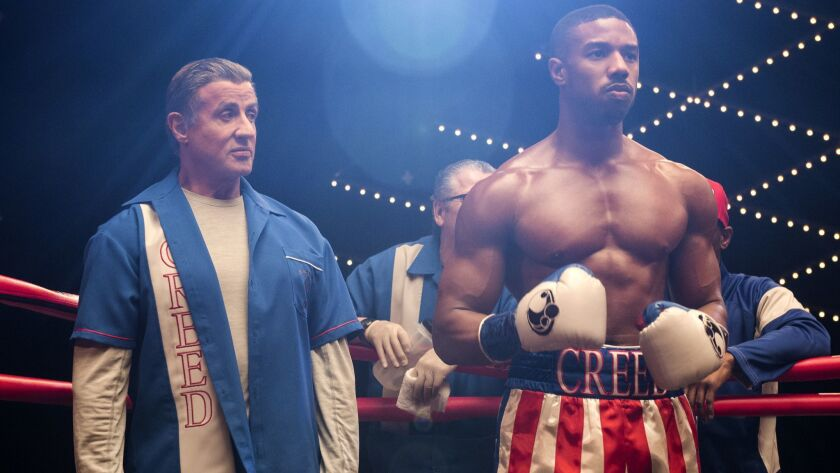 """Sylvester Stallone stars as Rocky Balboa and Michael B. Jordan as Adonis Creed in """"Creed II."""""""