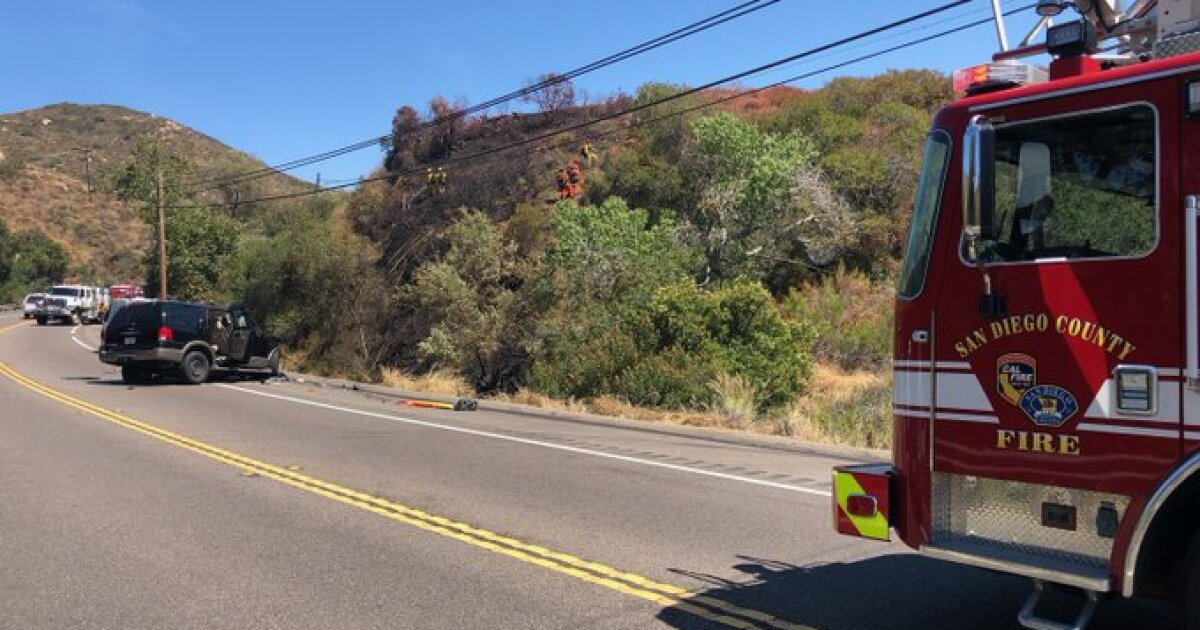 Driver dies in fiery, head-on crash in Jamul - The San Diego Union