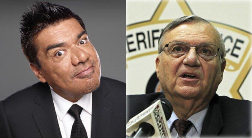 Arizona sheriff Joe Arpaio dares George Lopez: Say it to my face