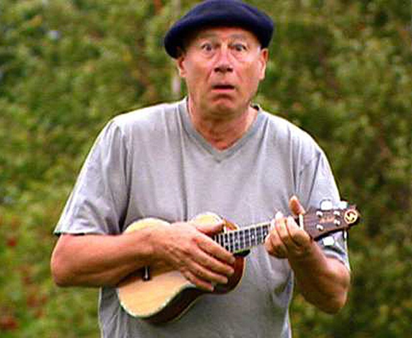 "Neil Innes in ""The Seventh Python"" documentary. The performer and humorist died on Dec. 29 at age 75."