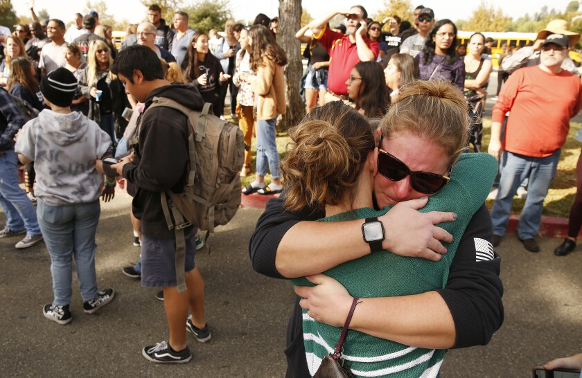 Saugus High School families reunite after campus shooting