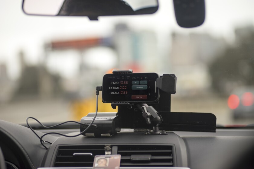 TaxiOS uses a smartphone to replace traditional taxi meters.