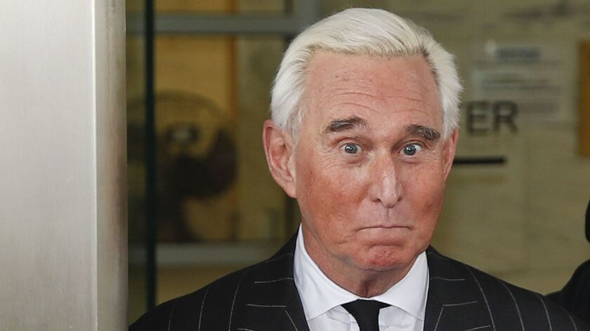 Editorial: Remember, Roger Stone is only one of the bad apples in Trump's basket