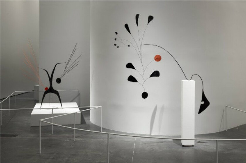 """Works in the exhibition """"Calder and Abstraction: From Avant-Garde to Iconic,"""" at the Los Angeles County Museum of Art."""