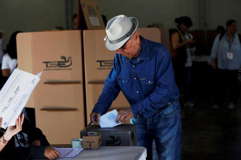 A man votes during the presidential election on Feb. 3, 2019, in San Salvador, El Salvador. EPA-EFE FILE/Esteban Biba