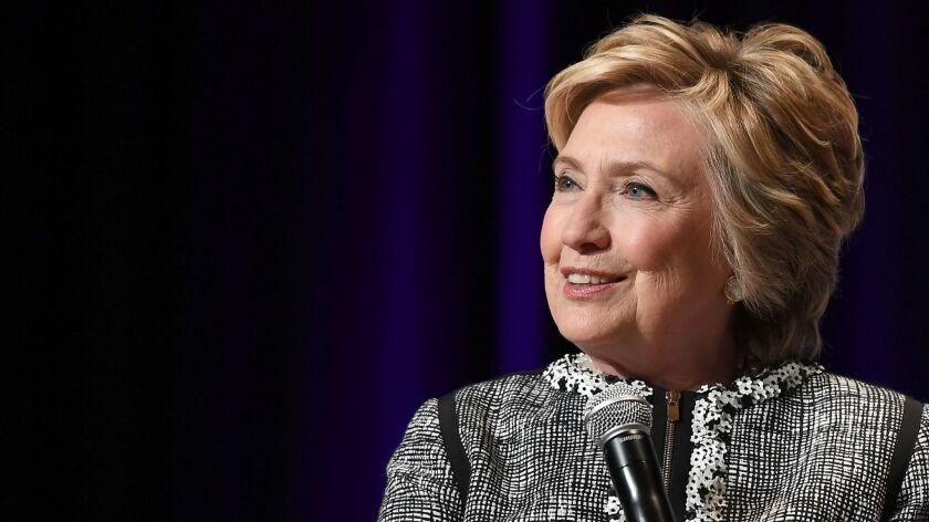 Hillary Clinton speaks in New York, New York on June 1, 2017.