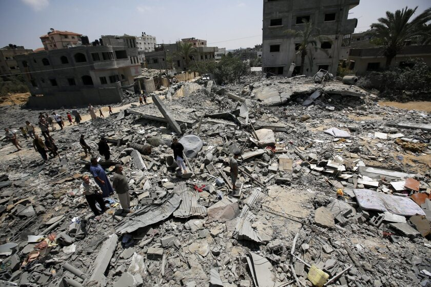 Destruction in Gaza after airstrikes