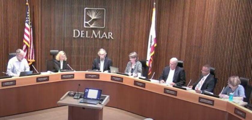 A Del Mar City Council meeting on Sept. 9, 2019.