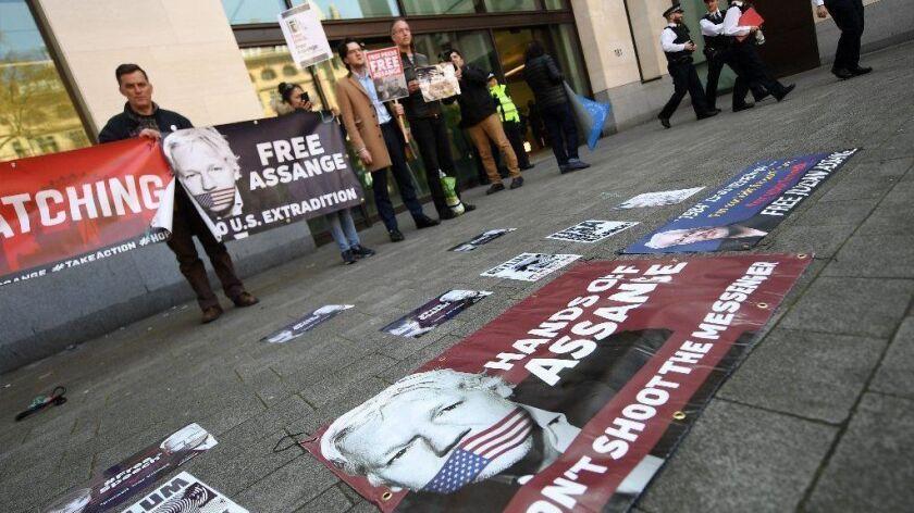 Julian Assange arrested in London, United Kingdom - 11 Apr 2019