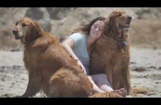 Visiting the dog beach with Shari Sandberg