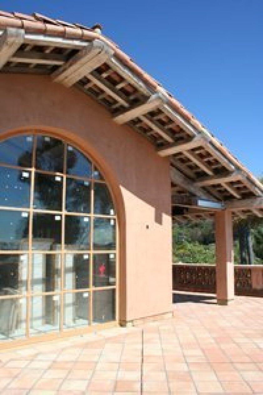 The window of the Rancho Valencia's bar, The Pony Room. Photo: Karen Billing