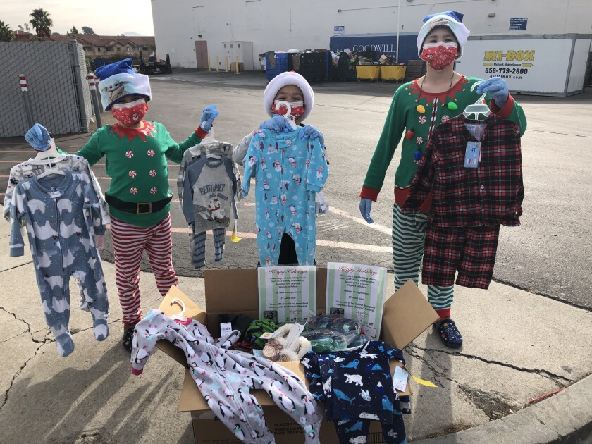 Students at Discovery Isle on Ted Williams Parkway in Poway recently held a pajama drive to help local children.