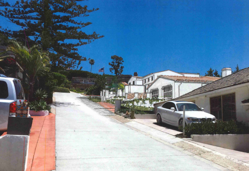 A rendering depicts a project proposed for 7342 Remley Place in La Jolla.