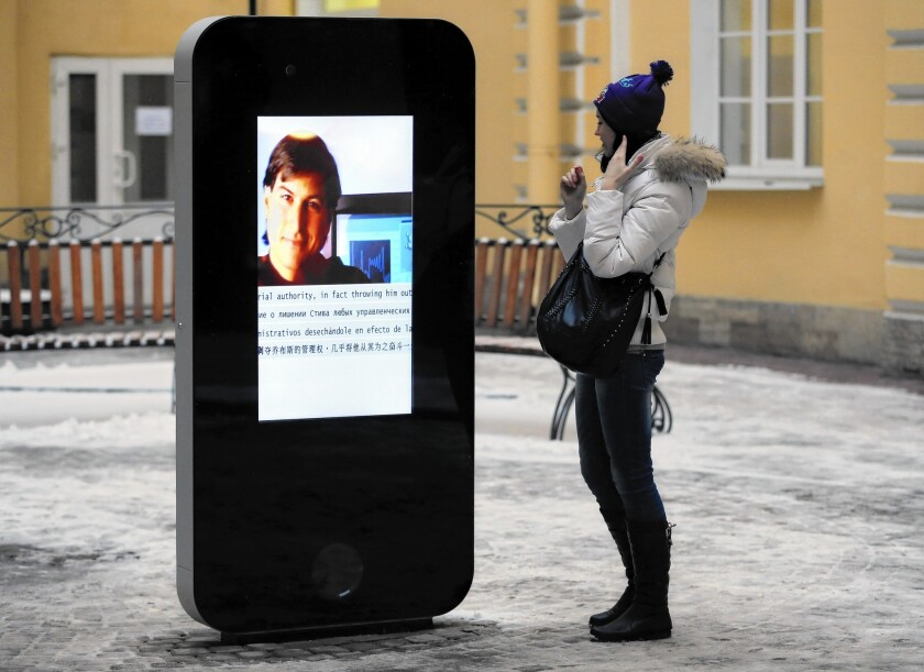 iPhone statue removed from university in Russia
