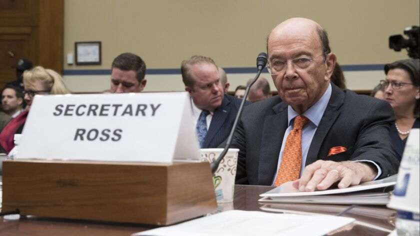 Commerce Secretary Wilbur Ross appears before the House Committee on Oversight and Government Reform to discuss preparing for the 2020 census on Oct. 12, 2017.