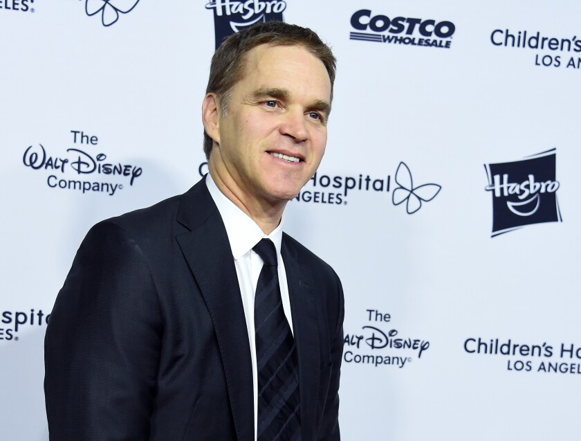 Kings President Luc Robitaille arrives at a charity gala on Oct. 20, 2018 in Los Angeles.