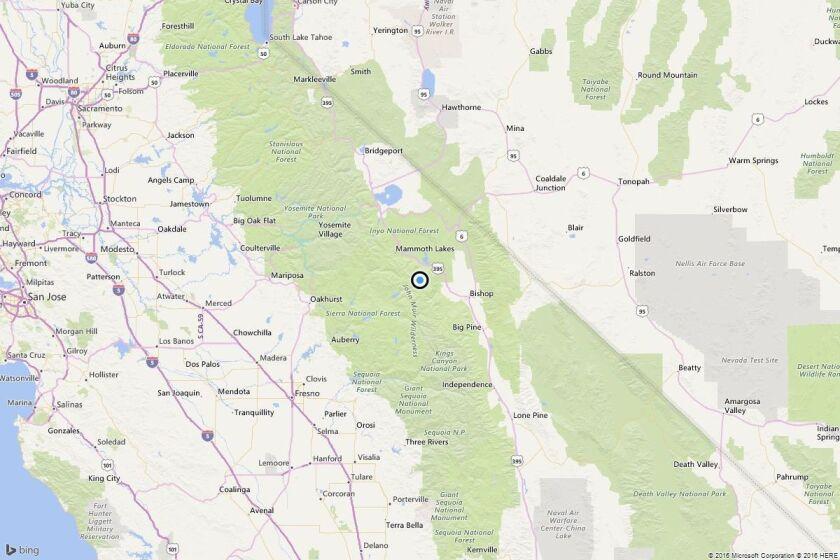 Earthquake: 3.1 quake strikes near Mammoth Lakes, Calif.