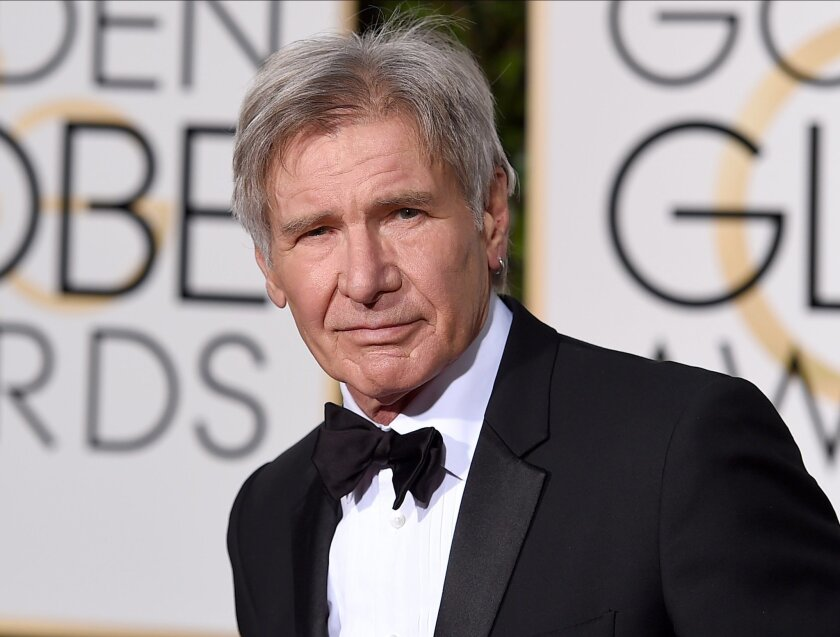 "FILE - In this Jan. 10, 2016 file photo, Harrison Ford arrives at the 73rd annual Golden Globe Awards in Beverly Hills, Calif. Ford will reprise his role as Rick Deckard in the sequel to ""Blade Runner,"" expected in January of 2018. (Photo by Jordan Strauss/Invision/AP, File)"