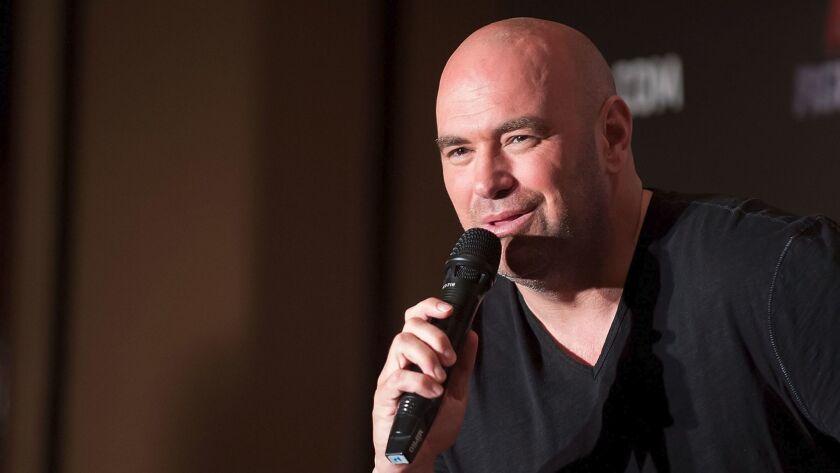 UFC President Dana White speaks in Hong Kong on August 20, 2014.