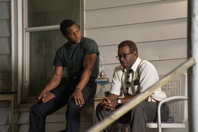 "Jonathan Majors, left, and Courtney B. Vance in ""Lovecraft Country."""