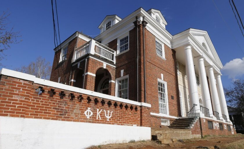 The Phi Kappa Psi house at the University of Virginia, where a gang rape described in a Rolling Stone article last month was alleged to have happened. After editors revealed problems with the story, national Greek activists are now calling on the school to reinstate all fraternity activities on campus.