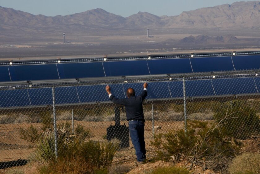 Solar arrays, such as these in Victorville, are becoming an increasingly common sight in California.