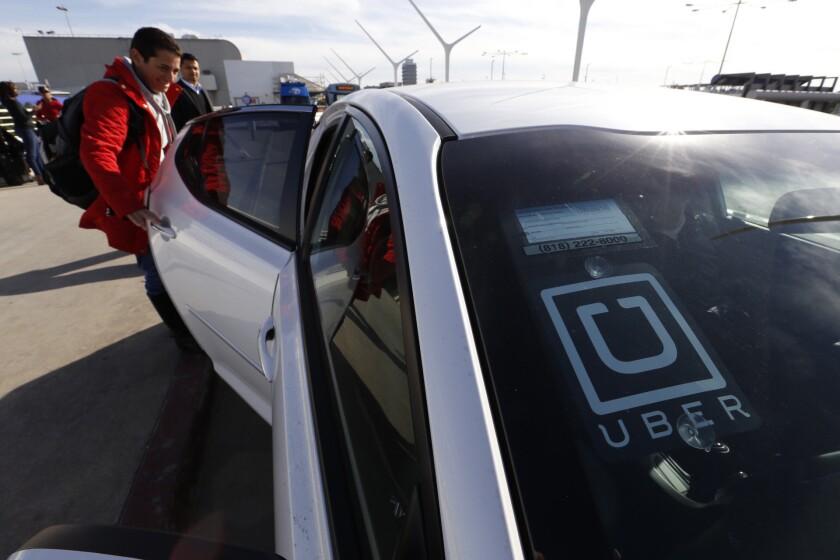 Uber pick-up at LAX