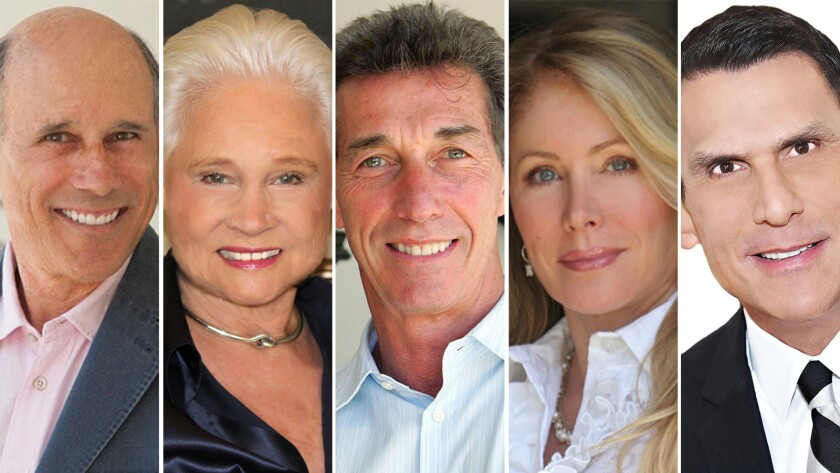 Jeff Hyland of Hilton & Hyland/Christie's International Real Estate, Joyce Rey of Coldwell Banker Previews International, Stephen Shapiro of Westside Estate Agency, Valerie Fitzgerald of The Fitzgerald Group/Coldwell Banker and Joe Babajian of Rodeo Realty.