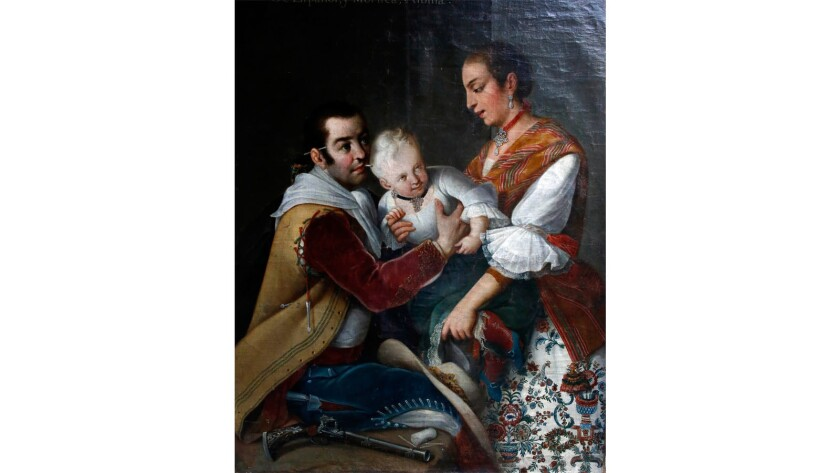 'From Spaniard and Morisca, Albino' by Miguel Cabrera