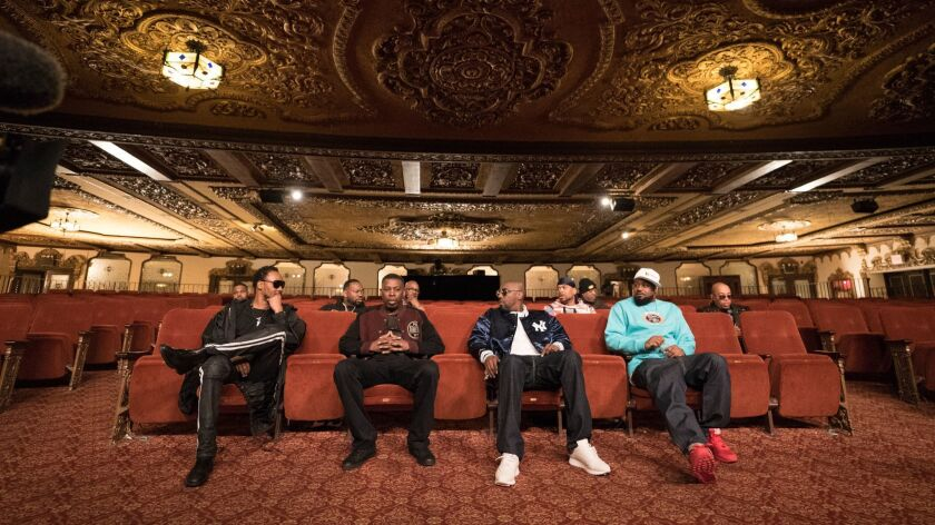 A still from <i>Wu-Tang Clan: Of Mics and Men</i> by Sacha Jenkins, an official selection of the Ind