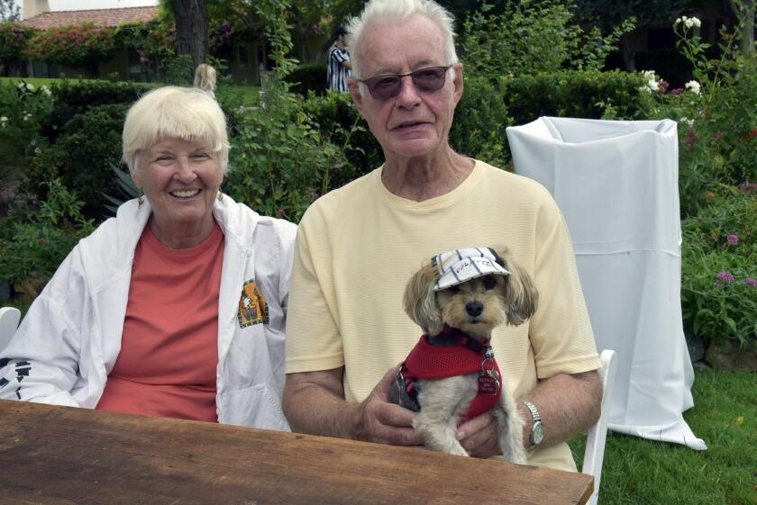 Peggy and Hans Jordi with Button